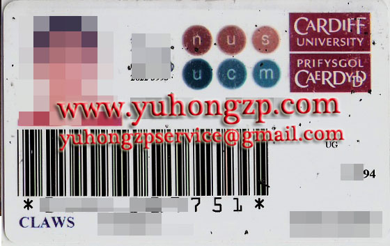 Cardiff university student card