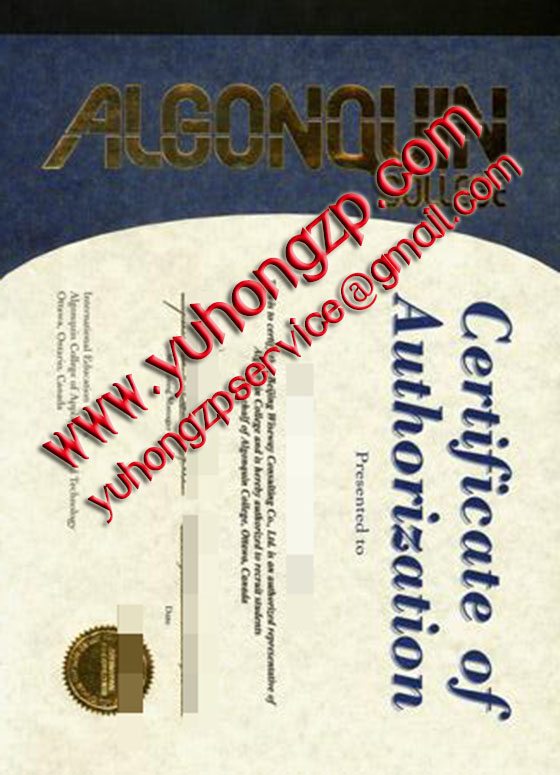 Algonquin College degree