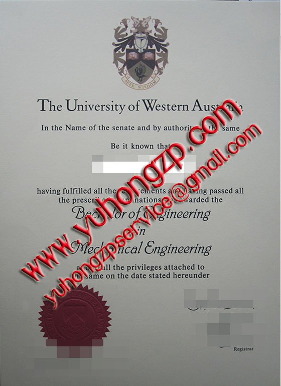 University of Western Australia degree