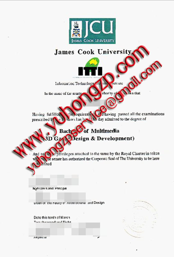 James Cook University degree