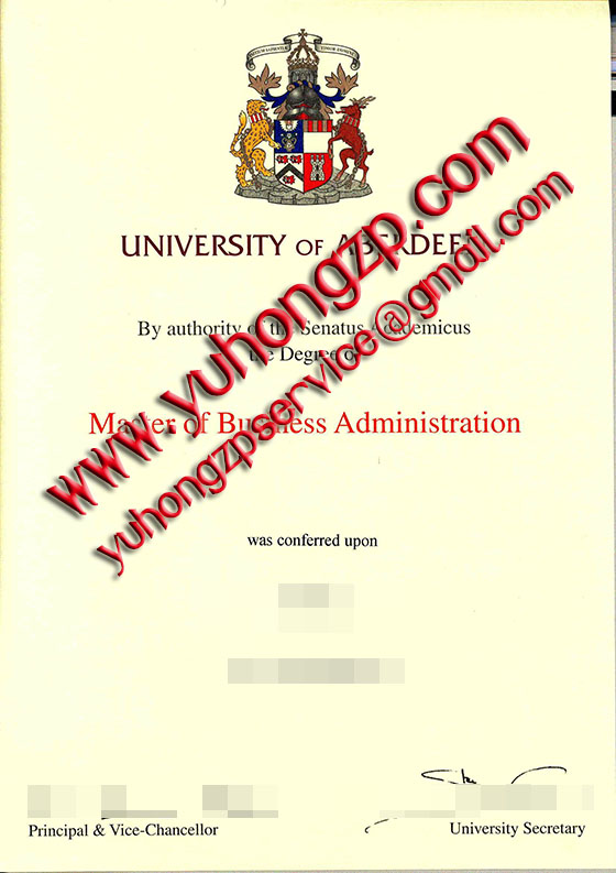 University of Aberdeen degree