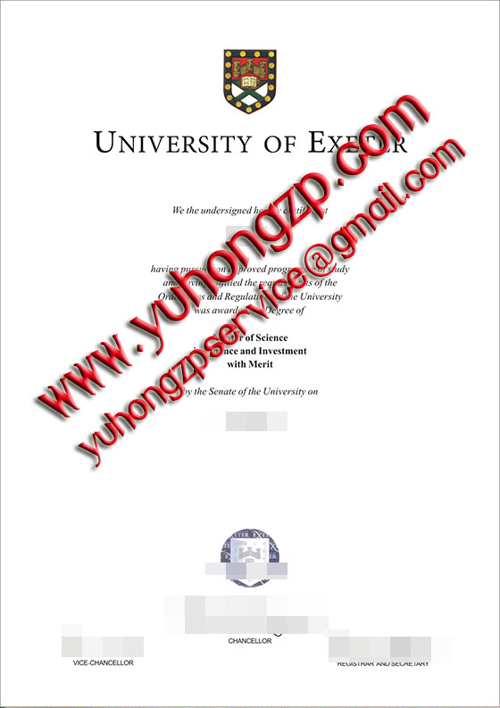 University of Exeter degree