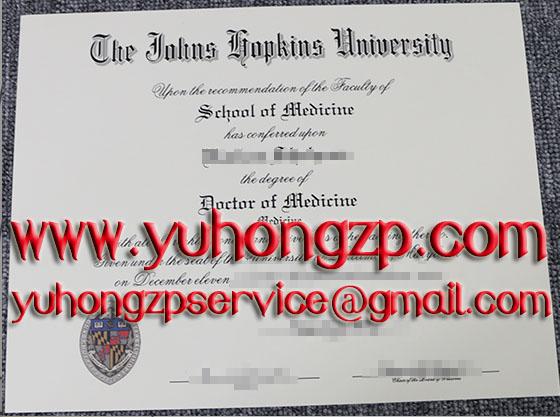 Johns Hopkins University degree