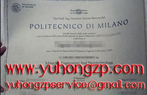 Politecnico di Milano University degree