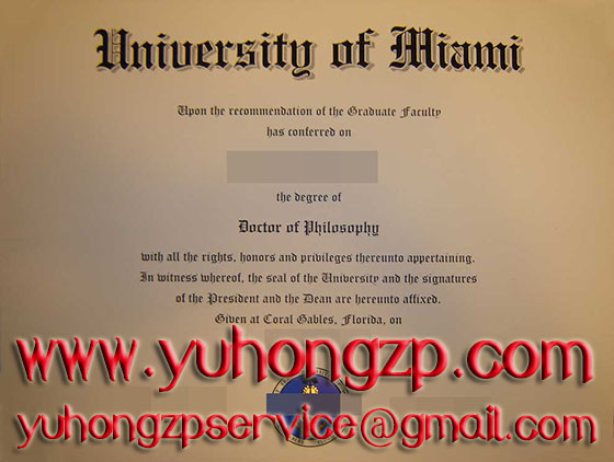 University of Miami degree