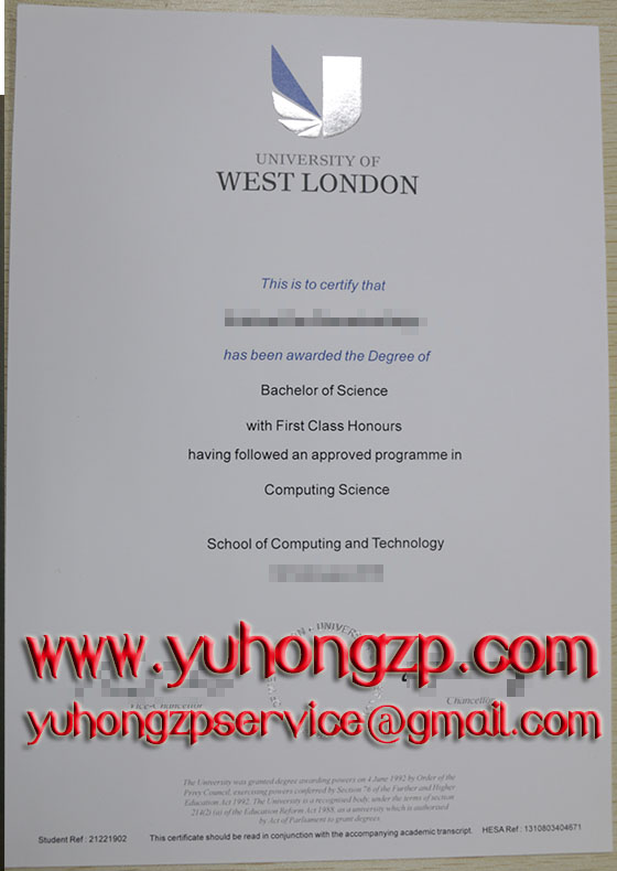 University of West London degree