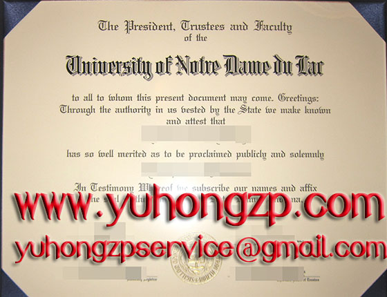 University of Notre Dame degree