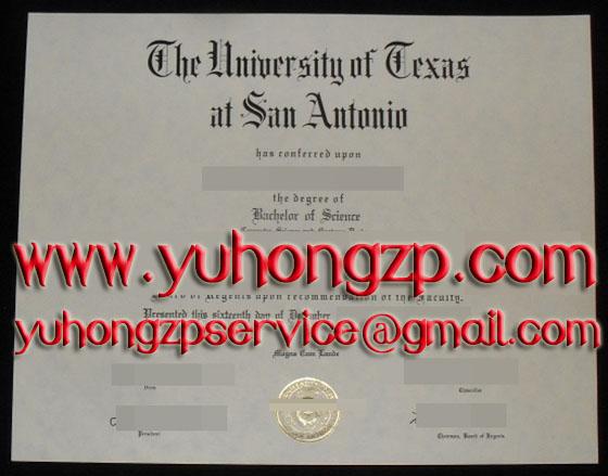 University of Texas at San Antonio UTSA degree