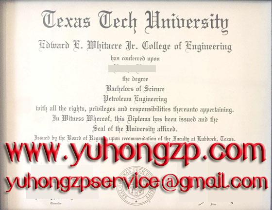 Texas Tech University degree