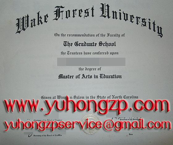 Wake Forest University degree