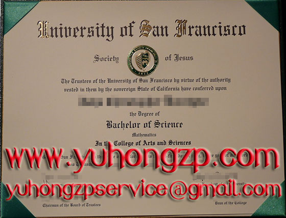 University of San Francisco degree USF diploma