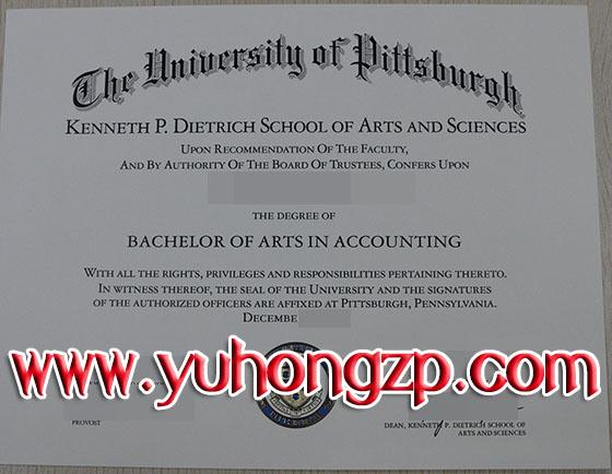 University of Pittsburgh degree