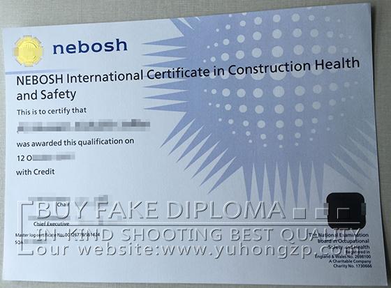 Nebosh Certificate Fake NEBOSH International In Construction Health