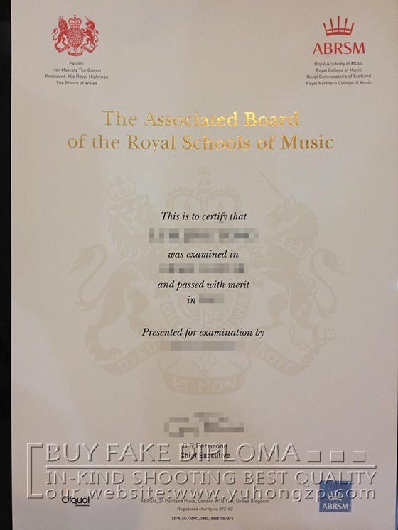Phony Abrsm Diploma Buy The Associated Board Of The Royal
