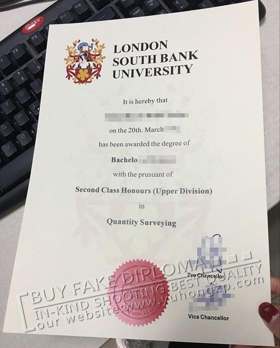 LSBU fake degree, buy a London South Bank University diploma in UK