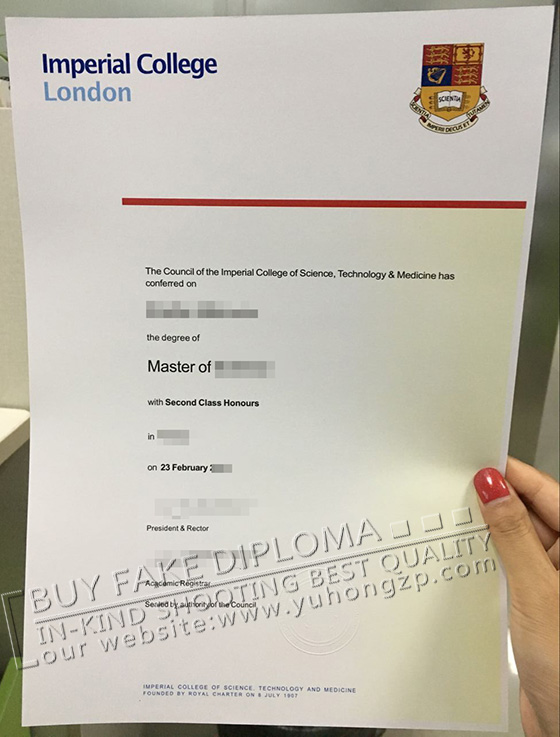 Buy fake Imperial College London degree