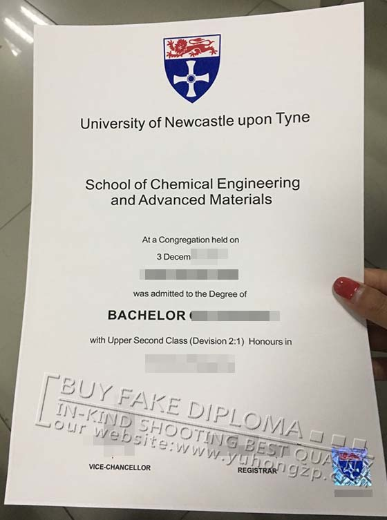 University of Newcastle upon tyne degree replica
