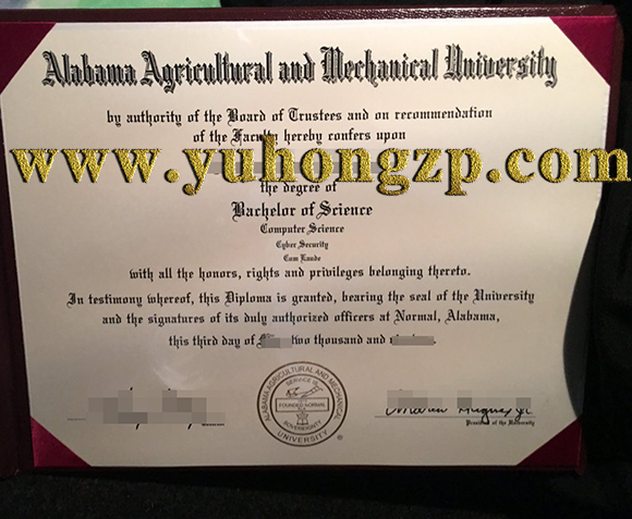Alabama Agricultural and Mechanical University diploma