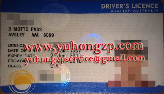 western Australia drivering license