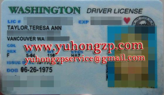 Washington driver license