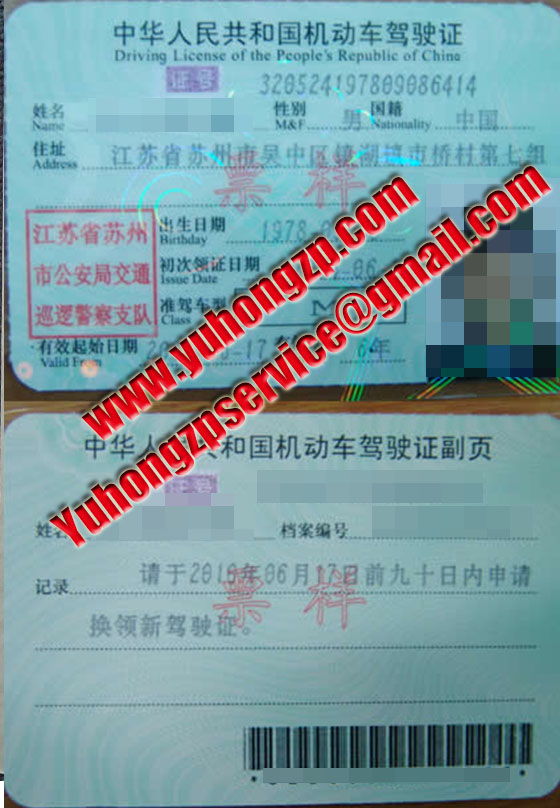 driving licence of china