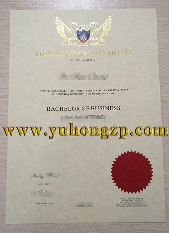 Edith Cowan University diploma sample