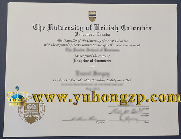 University of British Columbia Bachelor of Commerce degree