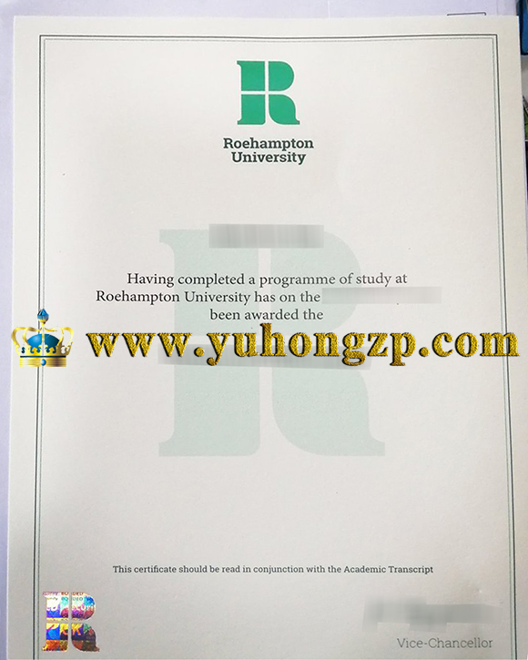 University of Roehampton certificate