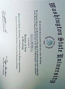 Buy Washington State University degree with real hologram