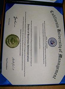 California University of Management degree, buy fake certificate