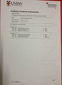 THE UNIVERSITY OF NEW SOUTH WALES Transcript,order fake diploma online