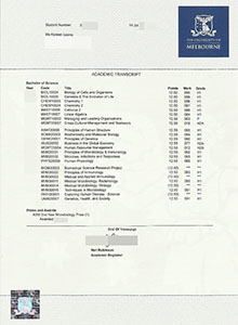 Melbourne University transcript. buy fake diplom and transcript from Australia?