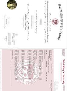 fake diploma and transcript, buy fake St. Marys University degree online