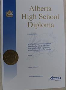 Alberta High School diploma, buy fake diploma and transcript online