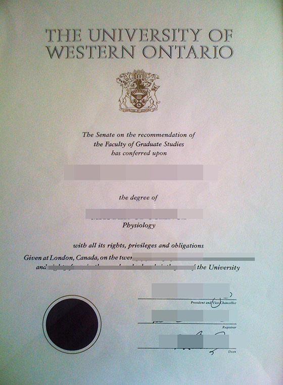 University of Western Ontario degree, buy UWO diploma and transcript online
