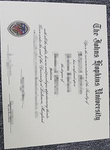 Johns Hopkins University (JHU) degree, buy fake diploma and transcript online
