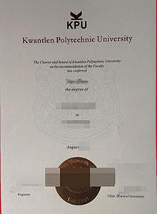 Kwantlen Polytechnic University degree, buy fake KPU diploma and transcript online