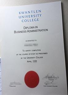 Kwantlen University College degree certificate, Canada fake diploma