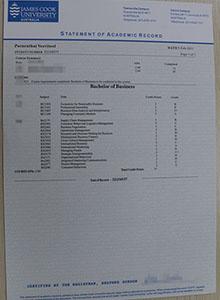 James Cook University transcript, buy fake JCU diploma and transcript
