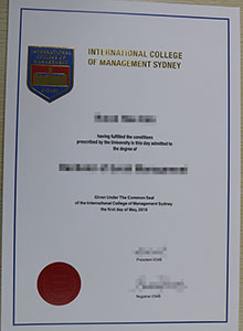 ICMS certificate, buy fake International College of Management, Sydney diploma and transcript
