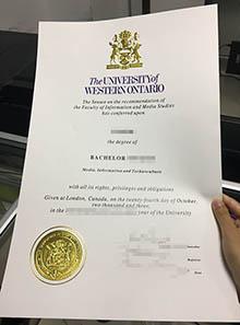 Fake University of Western Ontario diploma, buy fake UWO degree