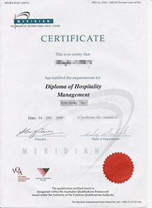 the meridian international hotel school degree, buy fake diploma and transcript online