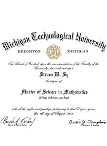 Michigan Technological University degree, buy fake diploma and transcript online