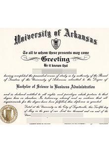 University of Arkansas degree, buy fake diploma and transcript online