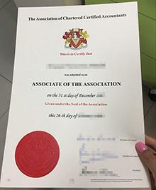Fake associate ACCA certificate, buy a ACCA certificate