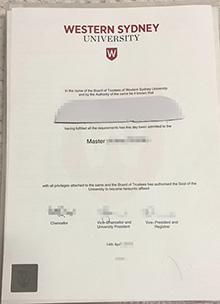 Phony Western Sydney University degree certificate, buy fake Australia diploma