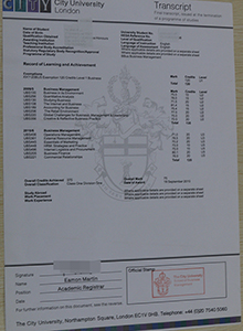 City University London transcript, buy fake diploma and transcript of City University London