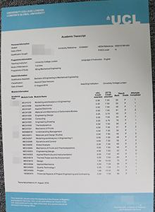 UCL transcript, buy fake University College London diploma and transcript online