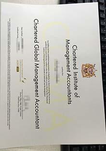 Fake Chartered Global Management Accountant (CGMA) diploma, fake diploma