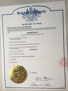 State of California Apostille fake certificate, buy California Apostille decertificate